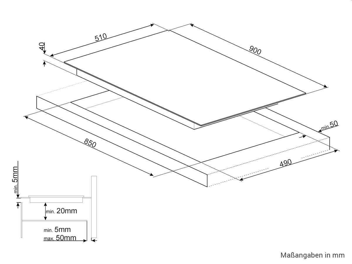 Smeg SE395ETB - Hornillo eléctrico de cerámica con 5 campos ...