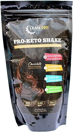 Pro-Keto Shake! Mejor batido de proteína baja en carbohidratos Cata bajo de azúcar limpia para Keto y todas las dietas de pérdida de peso (chocolate)