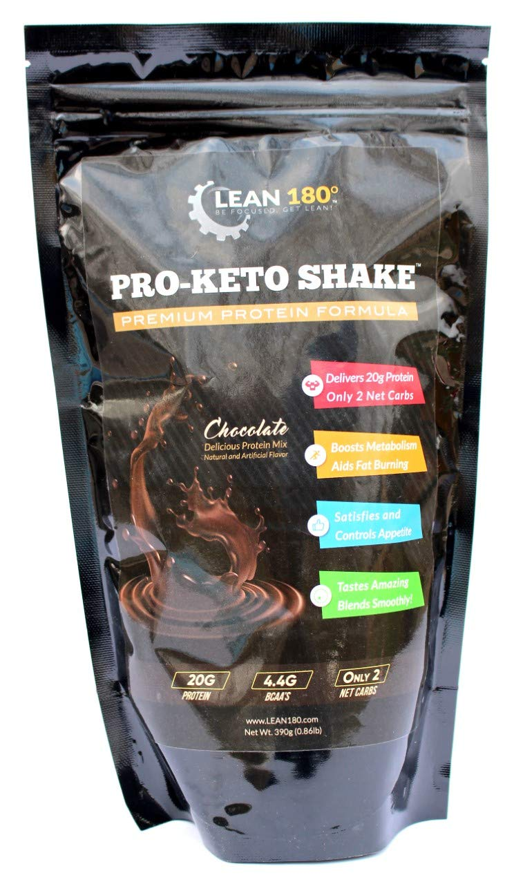 Pro-Keto Shake! Best Tasting Low Carb Low Sugar Clean Protein Shake for Keto and All Diets Weight Loss (Chocolate)