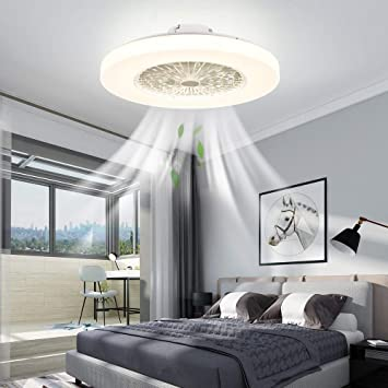 Iyunxi Modern Ceiling Fans With Lights Flush Mount Remote Control Led Dimming Three Color Lighting Low Profile Ceiling Fan 23 Inch 72w Enclosed Ceiling Fan Light Kitchen Bedroom Children S Room Amazon Com