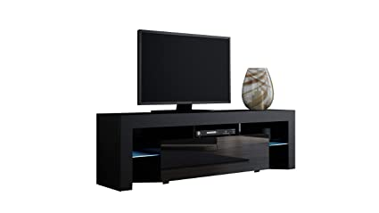 Charmant TV Stand MILANO 160 Black  TV Cabinet With LEDs   Living Room Furniture   TV