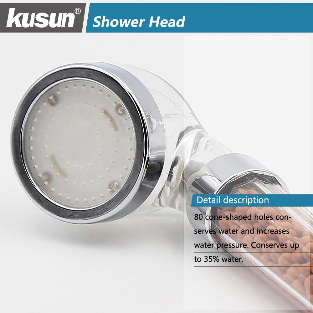 Remplacer la balle d/énergie Kusun/® Douchette Pommes de Douche Universel Composante douche /à main Ionique Filtre chlore Filtration Douches 200/% Haute Pression