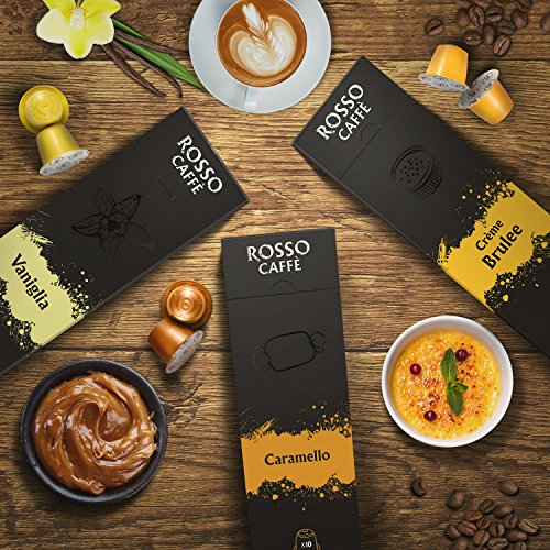 Rosso Caffe Sweet Flavors Pack for all Nespresso Original Line Machine, 60 Pods