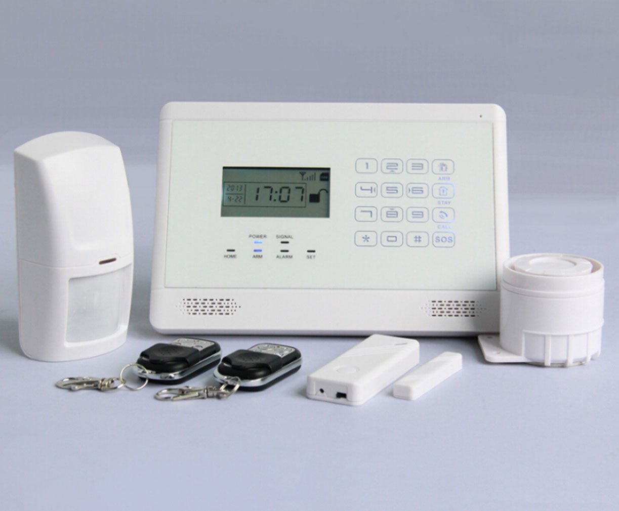 Horich Professional Touch keypad & LCD Display Wireless Home Security GSM Alarm System Kit