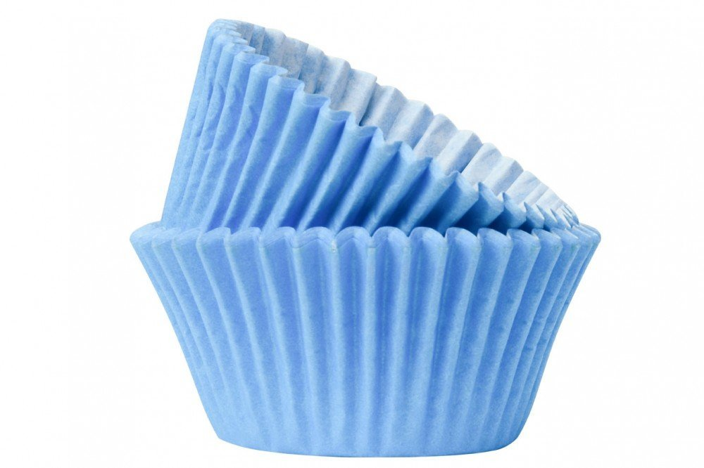 100 x Light Sky Baby Blue Cupcake Muffin Cases Cupcake Case