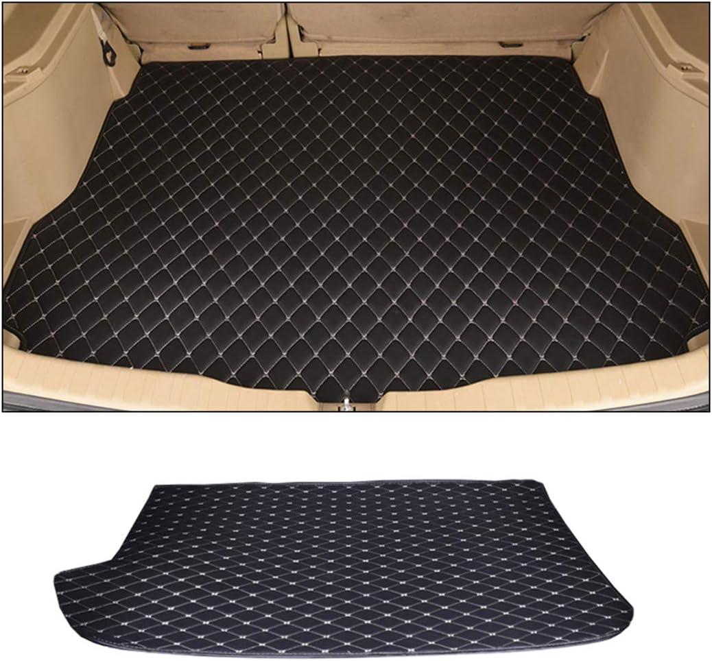 ALLYARD sur Mesure Tapis de Coffre pour X5 2019 Flat Style Cuir Protetion Tapis Cargo Trunk Liner Mat Haute qualit/é Cuir Coffre de Voiture Tapis Noir et Beige