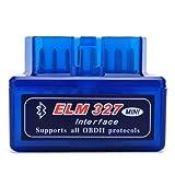 Mini ELM327 Interfaz V2.1 Bluetooth OBD-II OBD2 Auto coche herramienta de análisis de diagnóstico