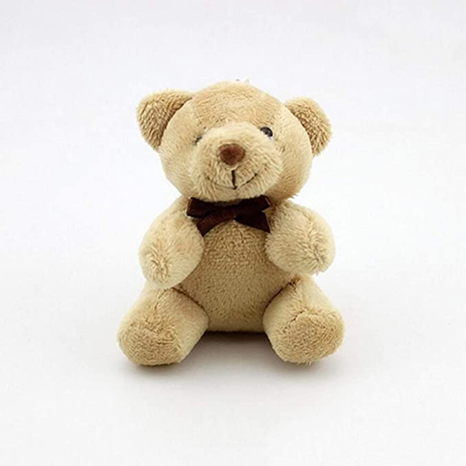 Amazon.com: JEWH Kawaii Small Teddy Bears - Plush Toys Stuffed - Animals Fluffy Bear Dolls - Soft Kids Toys [1PCS/ 8CM] (Light Brown 2): Toys & Games