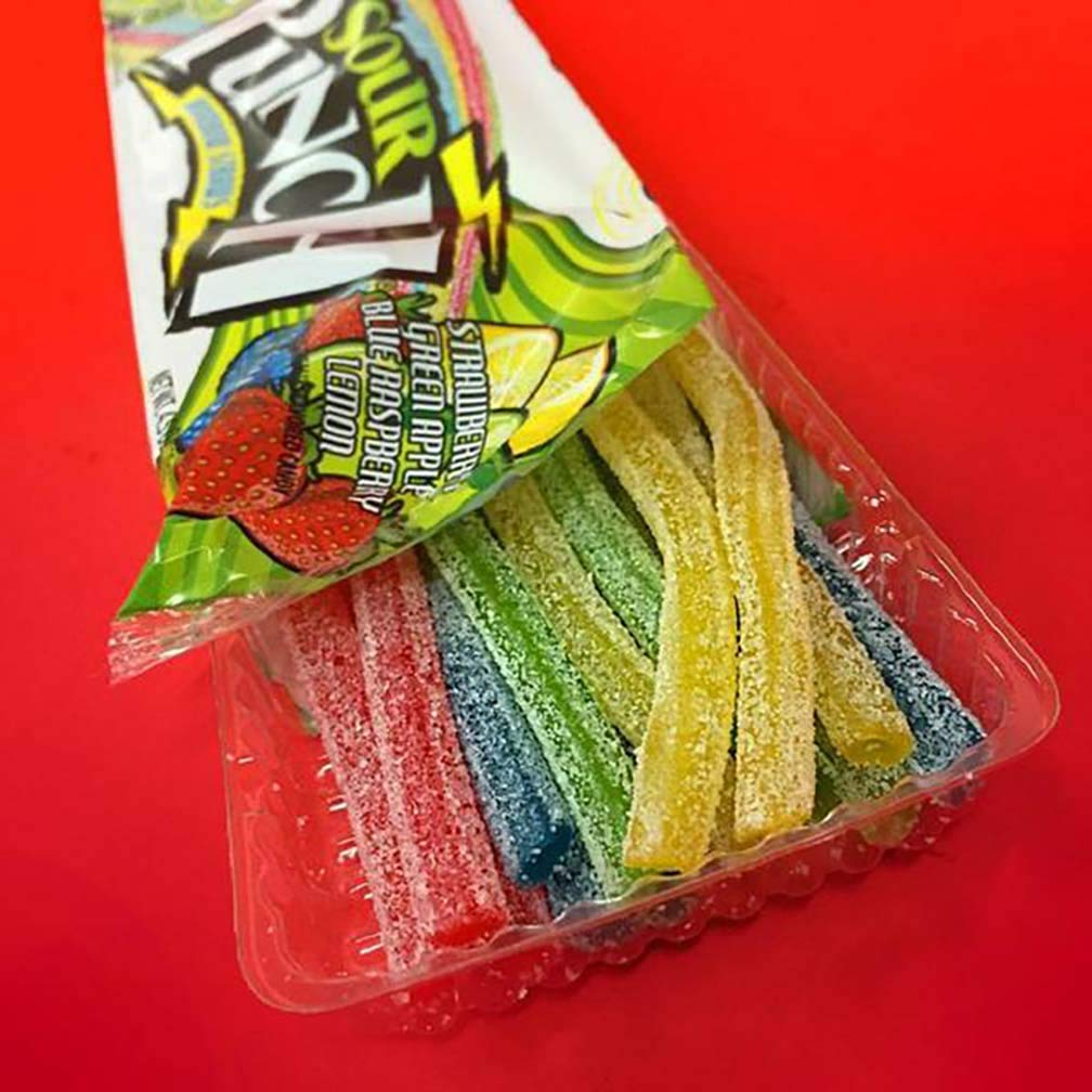 Sour Punch Straws, 4 Rainbow Fruit Flavors, Chewy Sweet & Sour Candy, 4.5oz Tray (24 Pack) by Sour Punch (Image #5)