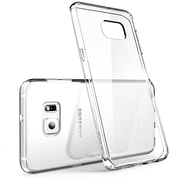 purchase cheap aefd3 2cbeb Galaxy S6 Edge Plus Case, i-Blason [Scratch Resistant] Halo Series Hybrid  Clear Case/Cover with TPU Bumper for Samsung Galaxy S6 Edge Plus + (Clear  ...