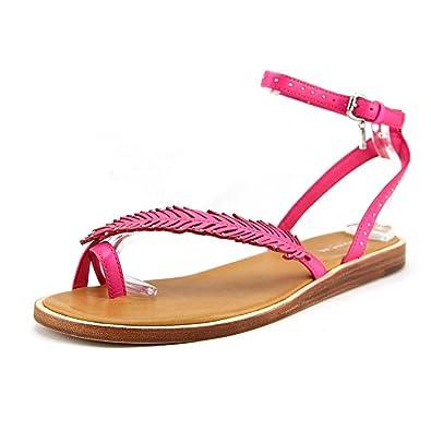 6b0e0736b1dce2 Coach Beach Pink Ruby Leather Sandals Women