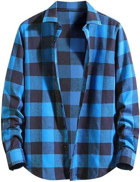 Luckycat Camisa térmica Acolchada para Trabajo Camisa Franela de Cuadros Manga Larga para Hombre Camisa Informal de popelín de Manga Larga de Corte Entallado para Hombre: Amazon.es: Ropa y accesorios