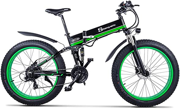 Bicicleta eléctrica Bicicleta para Hombre Bicicleta de Nieve Gorda 1000W-48V-13Ah Libatería 26 * 4.0 Bicicleta de montaña MTB Shimano Frenos de Disco de 21 velocidades Bicicleta eléctrica Inteligente: Amazon.es: Deportes y aire