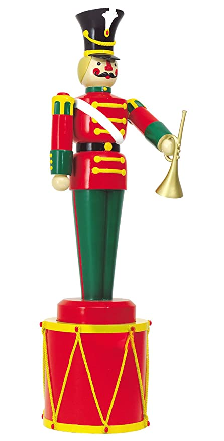 large life size soldier with trumpet on drum outdoor christmas decorations ds 55 10032