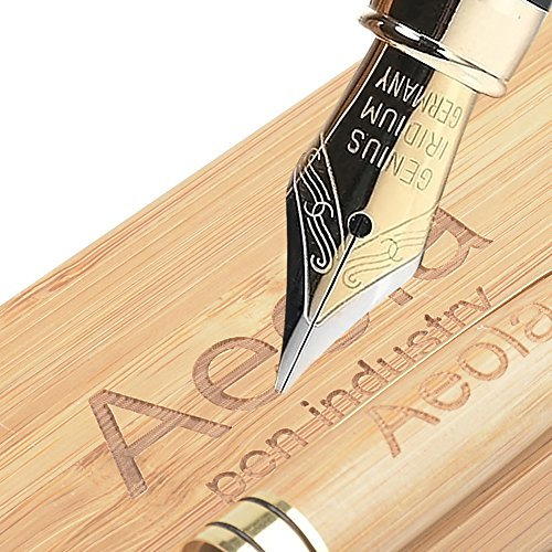 Maple Wood Pen Set Aeola 100% Handcrafted Wooden Classic Edition with Matching Wooden Box Luxury Elegant Gift Pen Set for Calligraphy Signature Executive (Maple Classic Pen)
