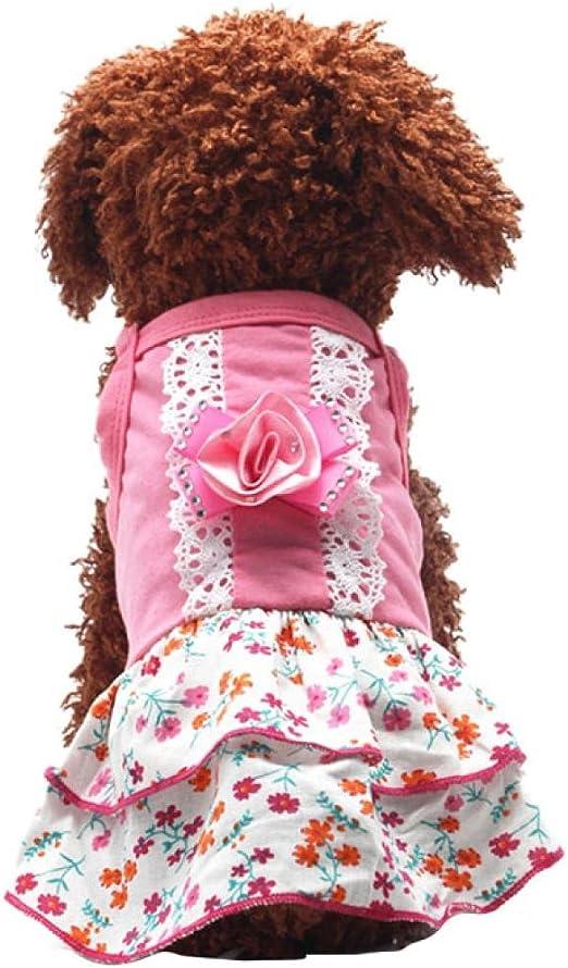 Summer Small Pet Cat Printed Pajamas Puppy Ribbon Apparel Axchongery Dog Jumpsuit