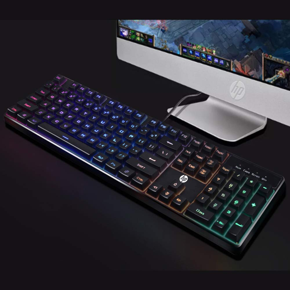 HP K300 Backlit Membrane Wired Gaming Keyboard
