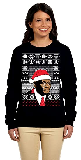 Amazoncom Womens Jordan Crying Meme Ugly Christmas Sweater