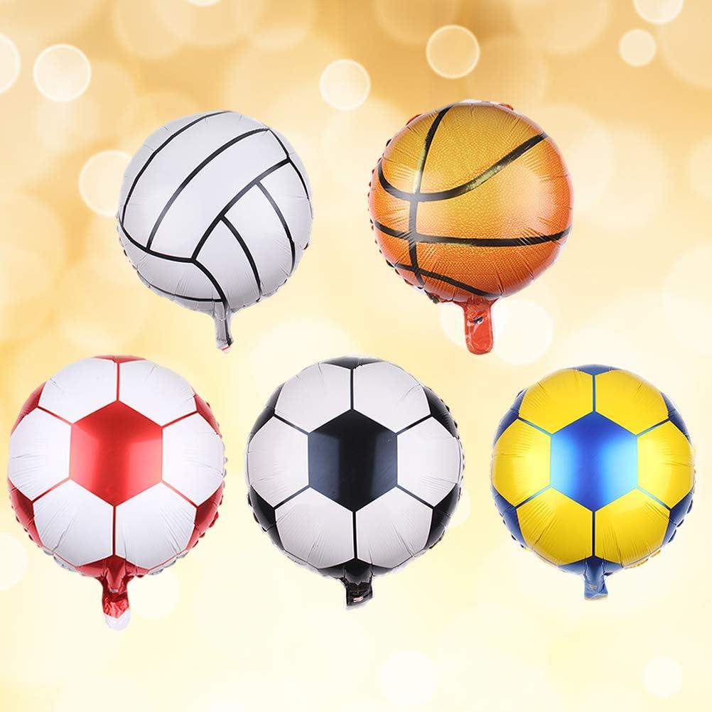 Amosfun 10 Unids Balones de Fútbol Baloncesto Foil Globos de ...