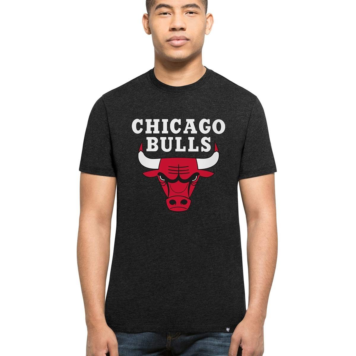 '47 Brand Chicago Bulls Club NBA T-Shirt Black 306365BLACK