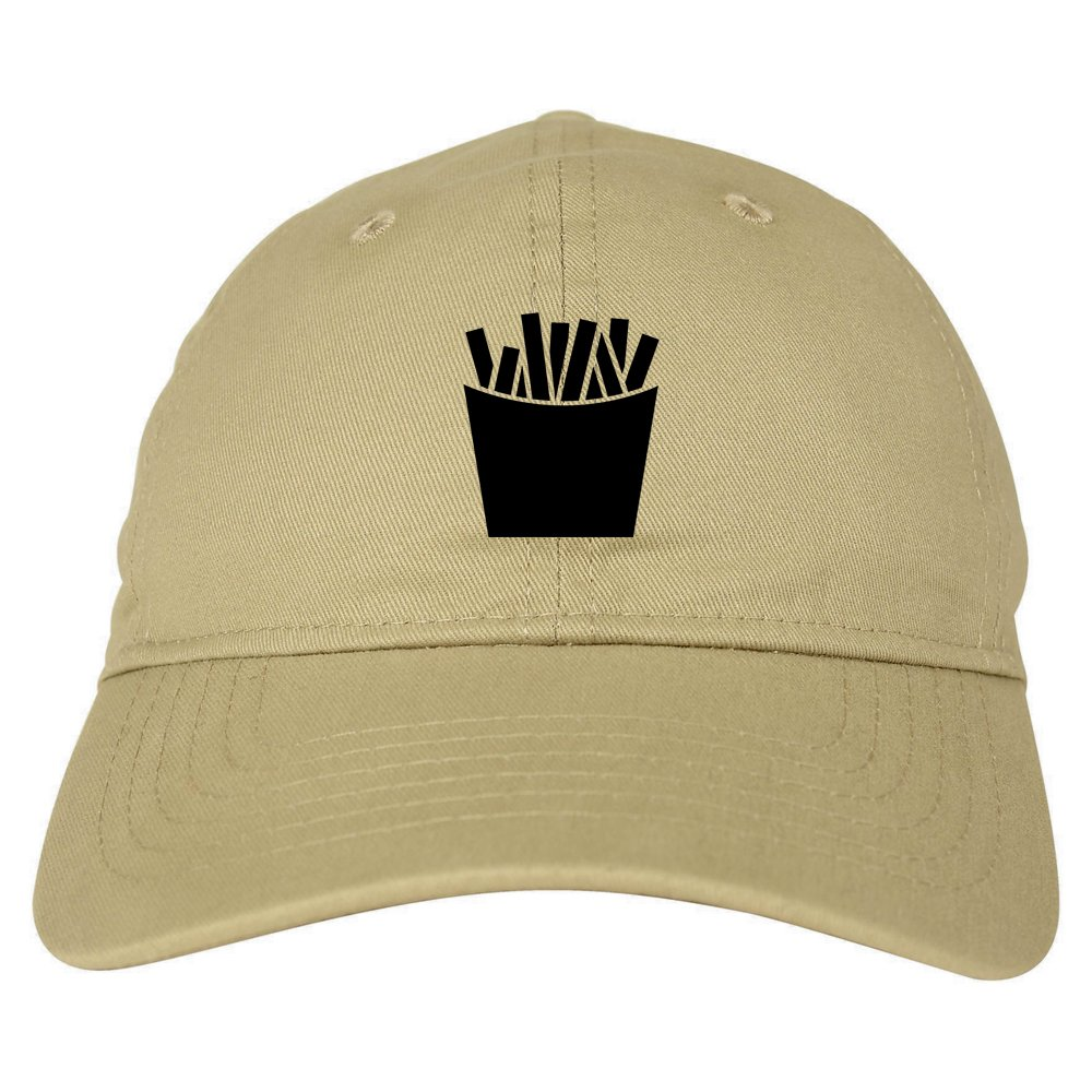 1a974689f78 Amazon.com  French Fry Fries Chest Mens Dad Hat Baseball Cap Beige  Clothing