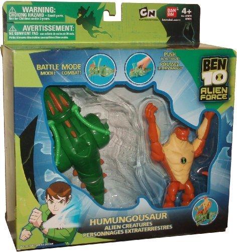 Ben 10 Alien Force Action Figure Playset - Action Creatures HUMUNGOUSAUR with 4-1/2 Inch Tall Humungousaur Figure