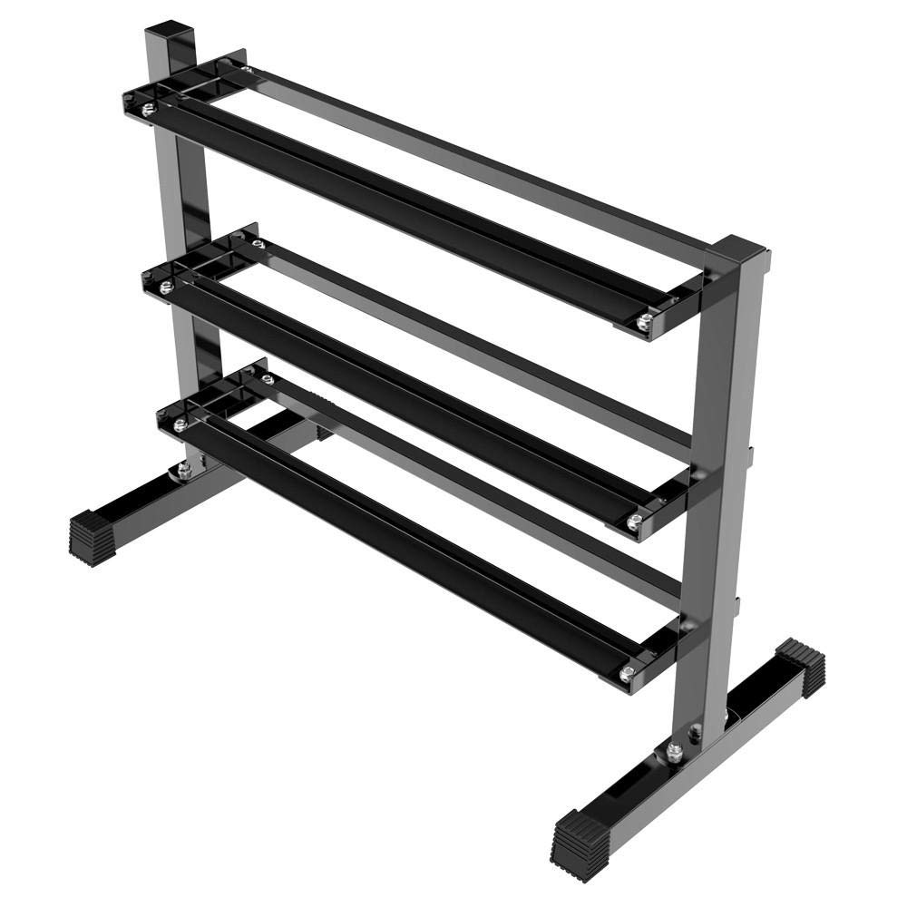 Yaheetech 3 Tier Horizontal Dumbbell Rack Multilevel Weight Storage Stand Organizer for Home Gym, Weight Capacity 441 Lb