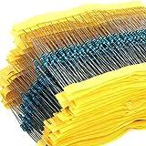 RC 1/4W 1% 130 Value 2600 Piece Resistor Kit,1 Ohm - 3M Ohm 1/4W Metal Film Resistors Assortment