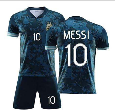SIBEI 2020-21 Jersey Adulto Fútbol Fútbol Camisa del Juego de Jersey Camiseta Argentina Inicio Camisa ausente de Messi N ° 10 Verano Jersey de la Manga Corta,Messi Away Jersey,L: Amazon.es: Hogar