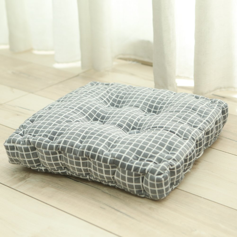 YXDDG Comfortable Square Cotton Chair Cushion Garden Patio Home Chair Cushion 7 Colors, Soft, Suitable for Elderly Children-B 40x40x8cm(16x16x3)