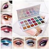 Glitter Eyeshadow, Shouhengda 18 Colors Shimmer