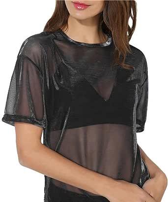 FAMILIZO Camisetas Transparentes De Mujer Camisetas Mujer Manga Corta Camisetas Mujer Verano Blusa Mujer Sport Tops Mujer Verano Camisetas Mujer Manga ...