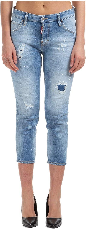 Dsquared2 Women Jeans Hockney Cool Girl Cropped Azzurro Azzurro