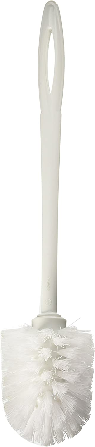 Rubbermaid Commercial Toilet Bowl Brush, White Plastic - Includes one Each.