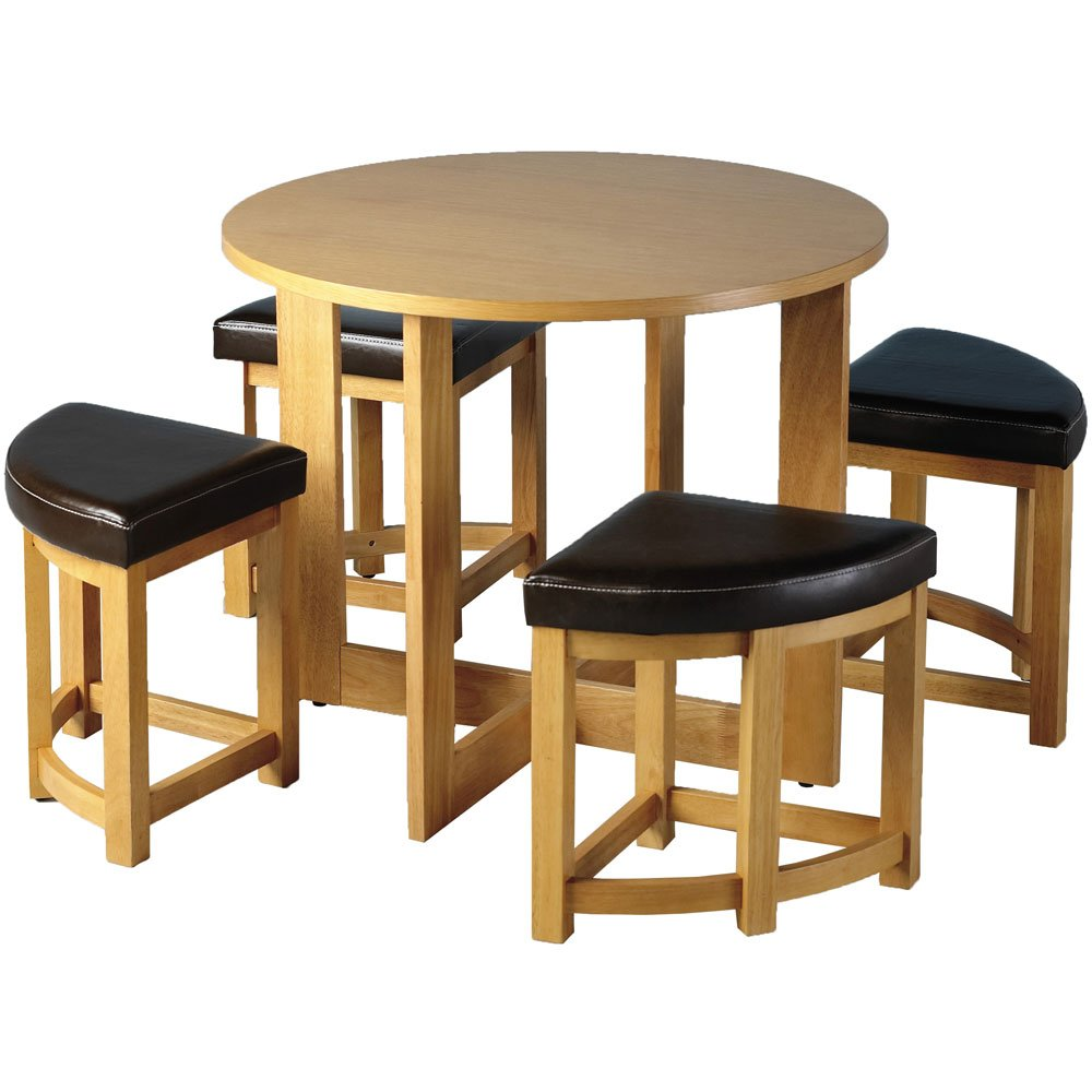 Sherwood Stowaway Dining Table Set With 4 Chairs: Amazon.co.uk: Kitchen U0026  Home