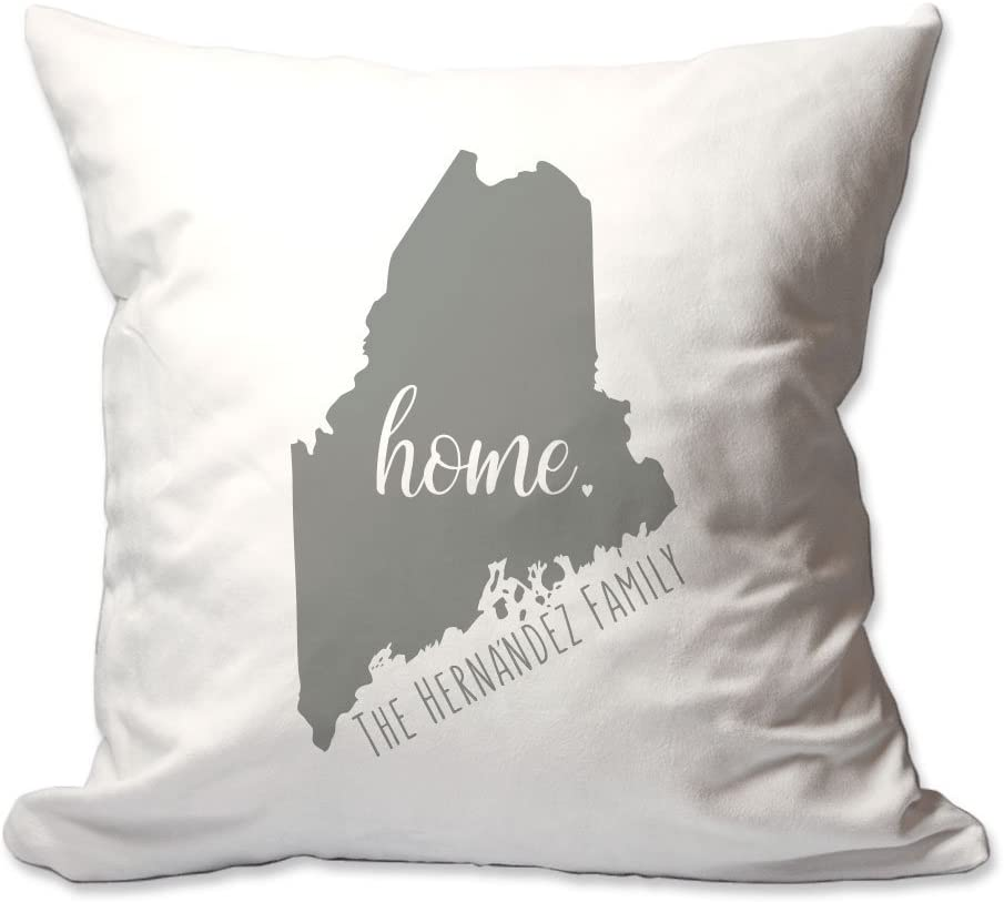 Amazon Com Pattern Pop Personalized State Of Maine Home Throw Pillow Home Kitchen