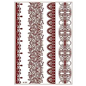 1 piezas impermeable estrella flor belleza encaje tatuaje ...