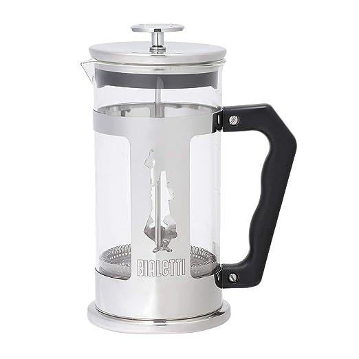Bialetti Preziosa, cafetera de embolo (Francesa); Acero y Vidrio, Capacidad 1 L