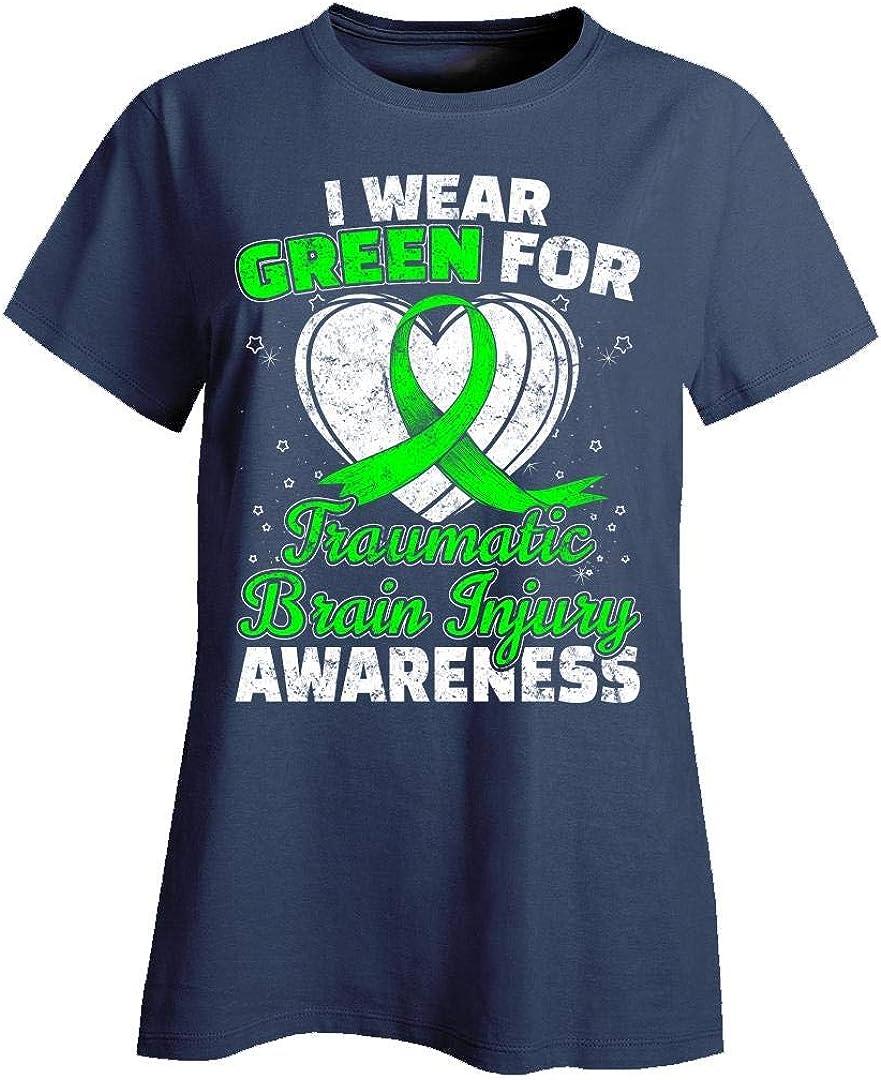 Family Support Design TBI Traumatic Brain Injury Awareness Green Ribbon Sweatshirt