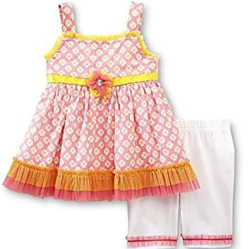 19ae11d7fb9eb Wonder Girls Children Kids Summer Outfits Flowers Top + Short Leggings  Trousers Pink Yellow 110: Amazon.co.uk: Baby
