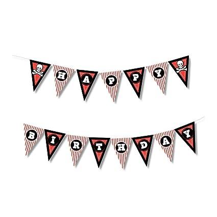 Amazon.com: Pirate Happy Birthday Banner – Pennant ...
