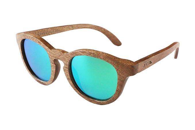 april® Gafas de sol de madera cristal polarizado polarizadas ...