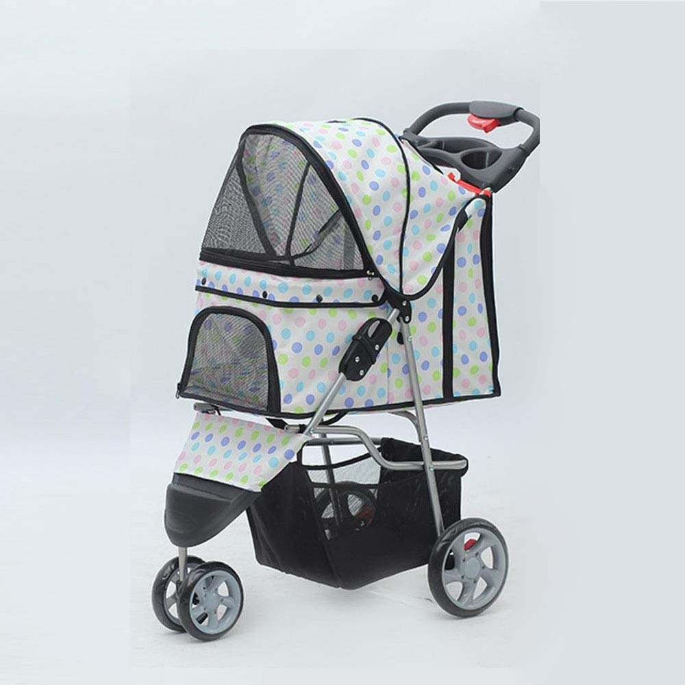 A Kaxima Pet StrollerQuick-Guanche folding a tricycle trolley easy to install