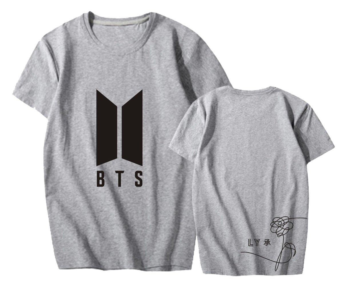 ALLDECOR BTS Love Yourself Printed Short Sleeve T-Shirt Unisex Cotton Loose Tee