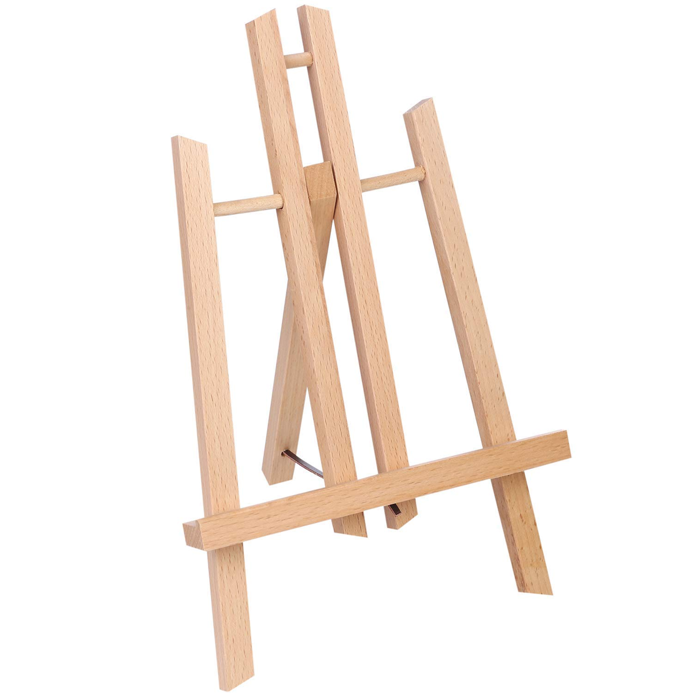 Caballete alto de 28 cm para mesa – ATWORTH. Caballete pequeño de madera para pintar y exhibir caballete
