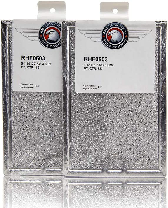 with Pull Tab American Metal Filter for LG 2B72705C RHF0503 Grease Microwave Oven Filter 5-1//16 x 7-5//8 x 3//32 Pack of 2