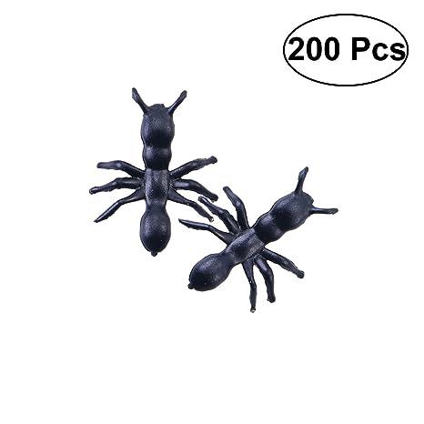 200 piezas de plástico negro para hormigas o carnavales para ...