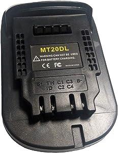 MT20DL Adapter USB Charger For Makita 18V Li-ion Battery BL1830 BL1860 BL1815 DCB200 For DeWalt Tool Convert