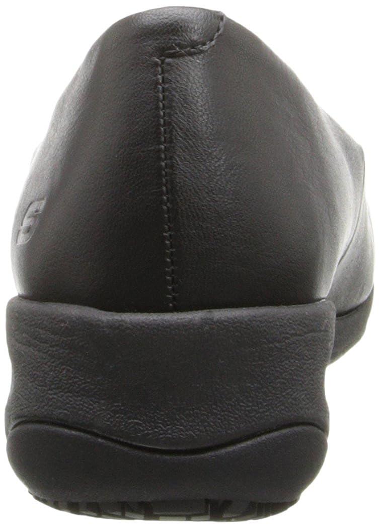 Skechers Work Women's Mina Slip Resistant Slip-On Flat Black