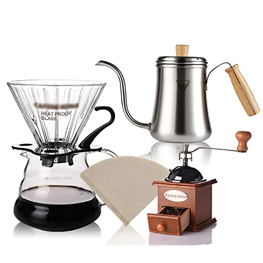 FYHKF Cafeteras de Goteo Pour Over Coffee Maker Brewer Set ...
